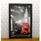 Composição 4 Quadros | Pontos Turísticos Londres, Nova Iorque e Paris