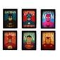 Composição 06 Quadros |Super Heróis