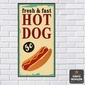 Quadro Vertical | Hot Dogs 40x15cm