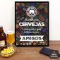 Quadro Porta Tampinha | As melhores Cervejas...