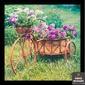 Quadro Bicicleta Marrom Flores