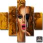 Quadro Painel Mosaico | Mulher Beleza
