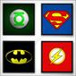 Composição 4 Quadros | Heróis Liga da Justiça
