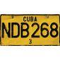 Quadro |Placa de Carro Cuba NDB268