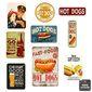 Composição 9 Quadros Decorativos Hot Dog Lanchonete