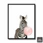 Quadro Zebra Chiclete Rosa