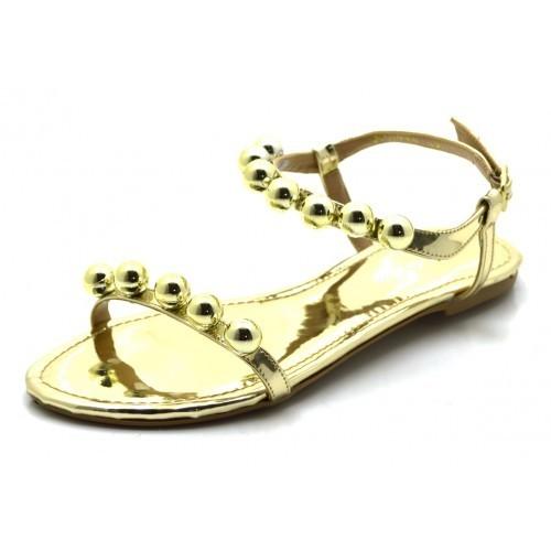 87f925aeb8 Sandália rasteira dourada com bolas giselacosta jpg 500x500 Sandalia  rasteira dourada