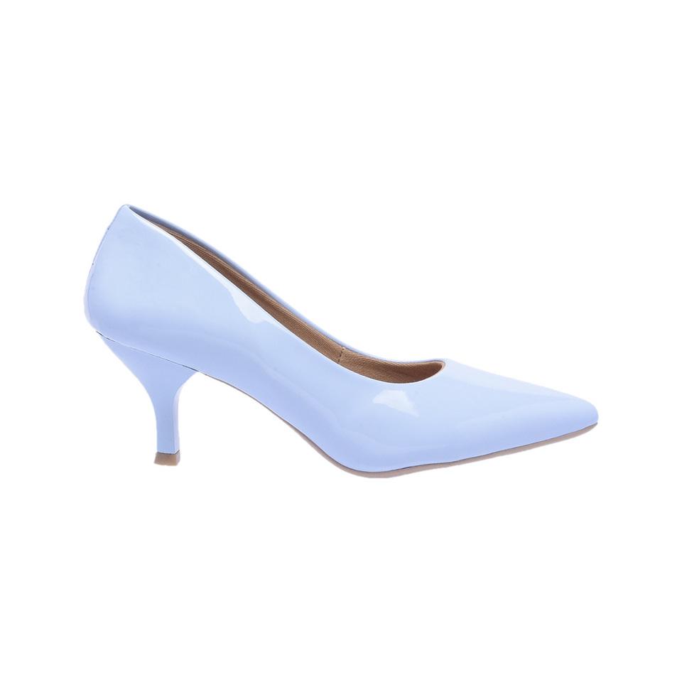4c5294b12d Sapato Social Feminino Scarpin azul claro salto baixo fino - GiselaCosta