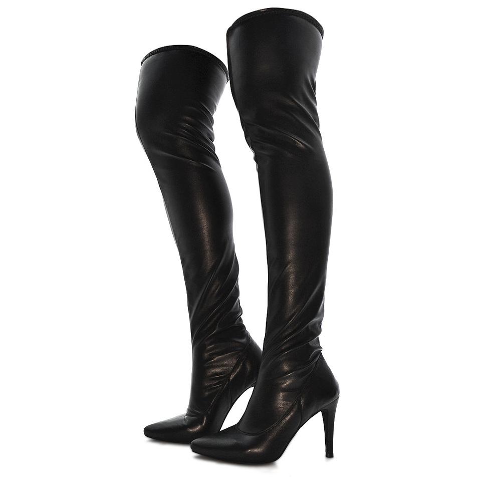 Bota Over Feminina Over Knee Strech Preta - GiselaCosta db6c4288e4151
