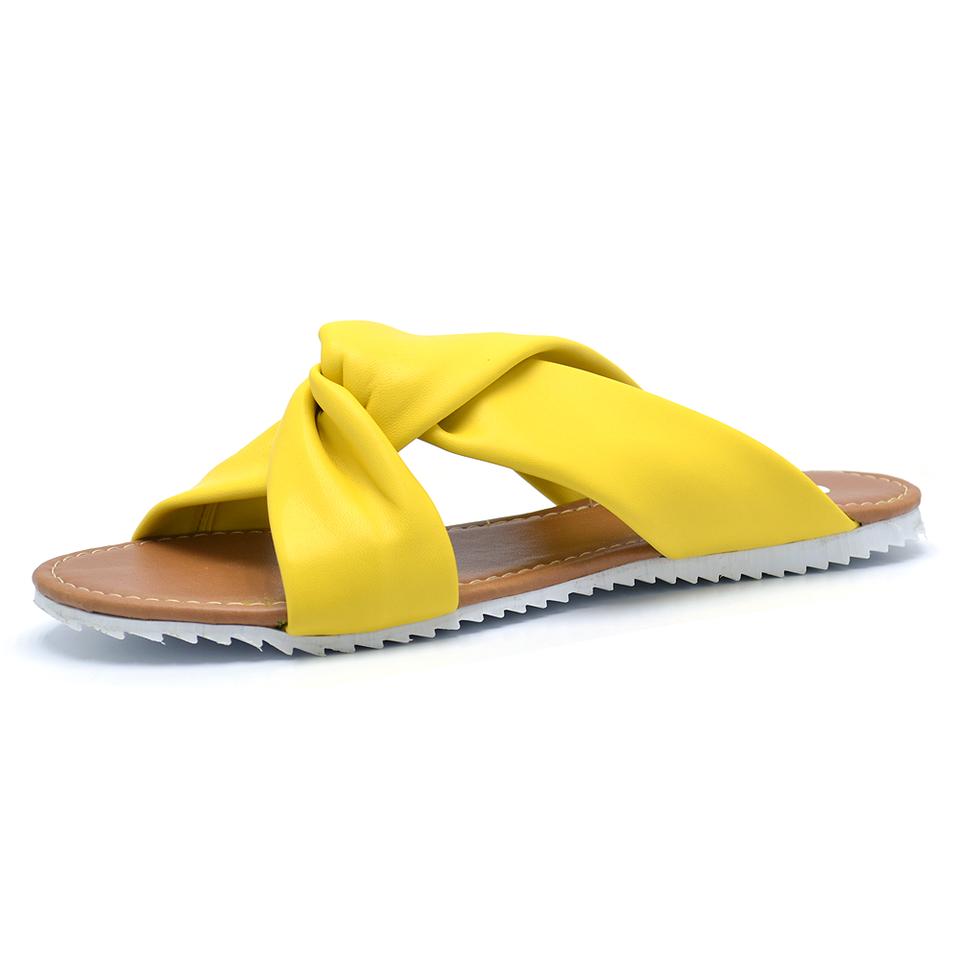 75900d6b5 Rasteirinha chinelo amarelo numeração grande especial - GiselaCosta