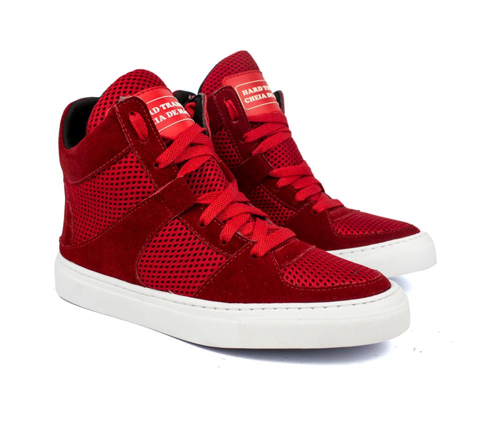 fca83e8c18 Tênis Sneaker Fitness Cheia de Marra Vermelho - GiselaCosta
