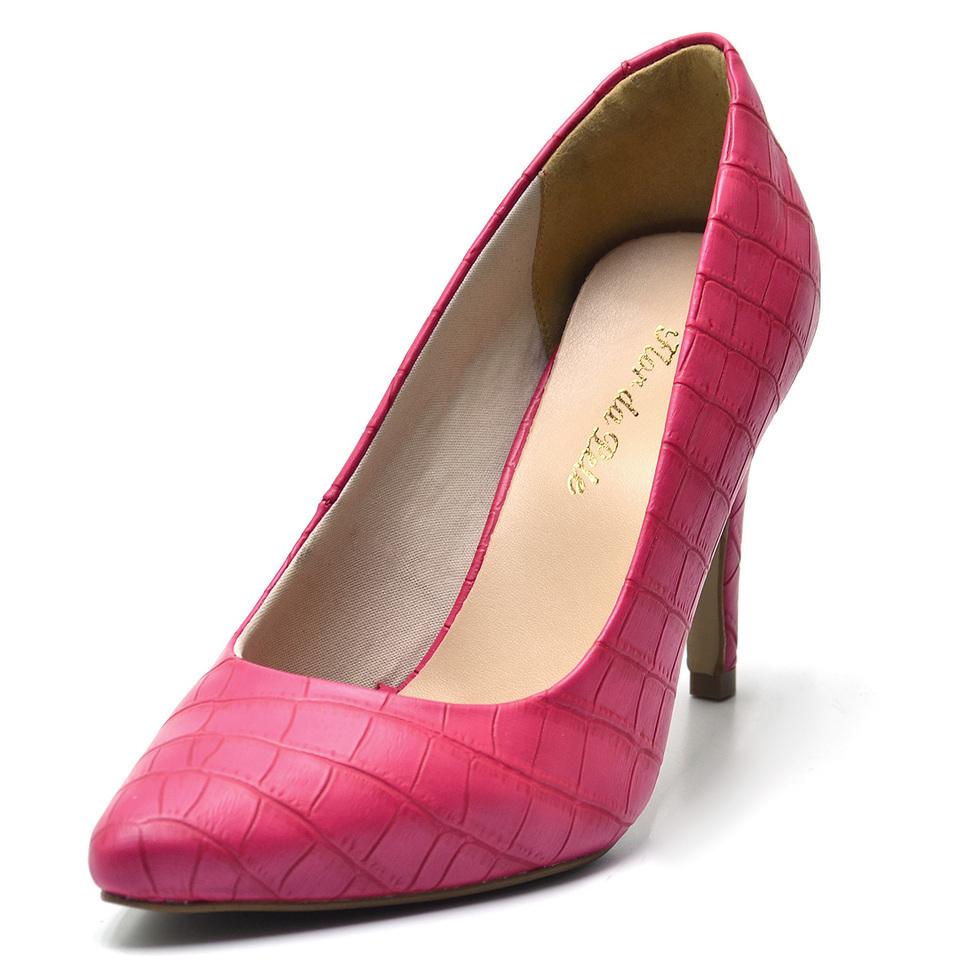 98a52da8b7 Sapato social scarpin feminino rosa pink salto fino - GiselaCosta