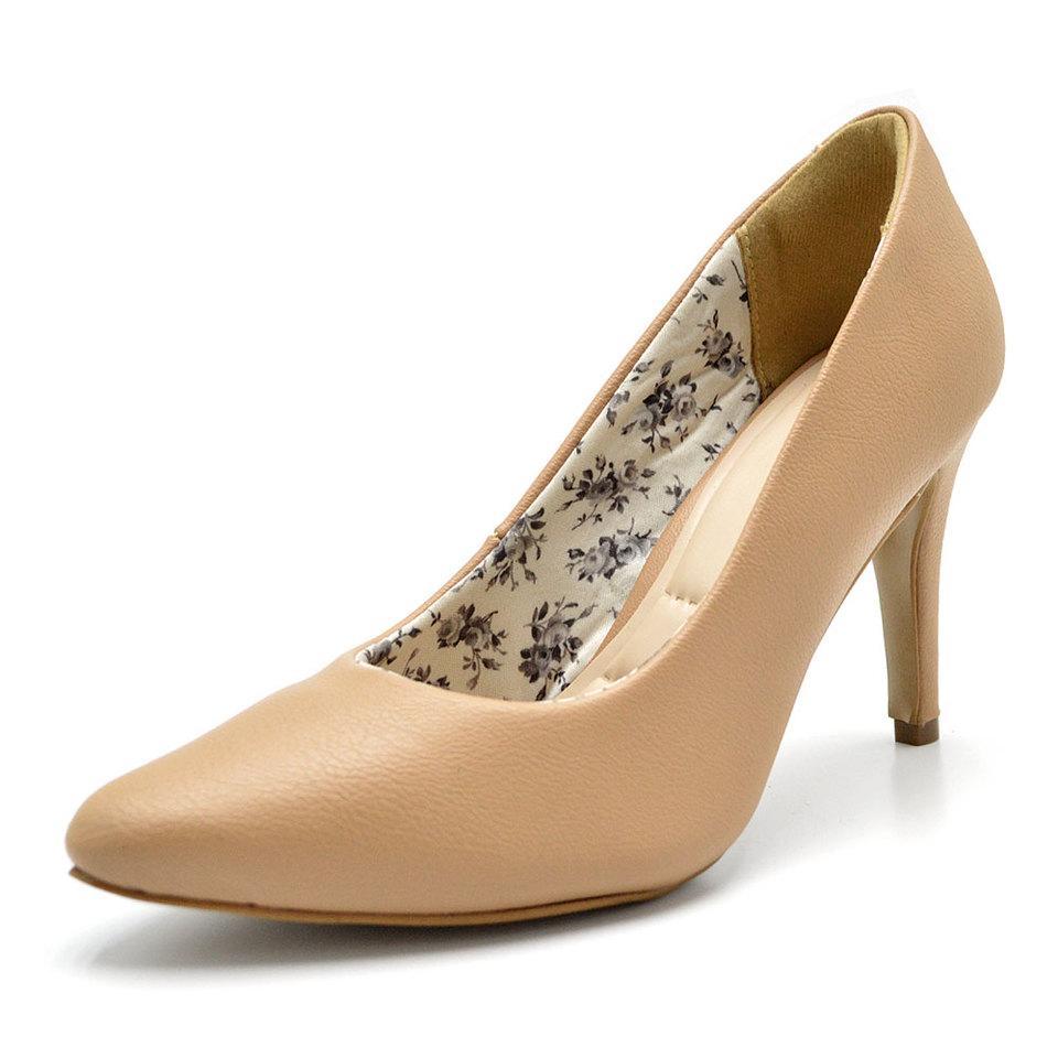 09fec0f2de Sapato Feminino Scarpin bege Salto fino - GiselaCosta