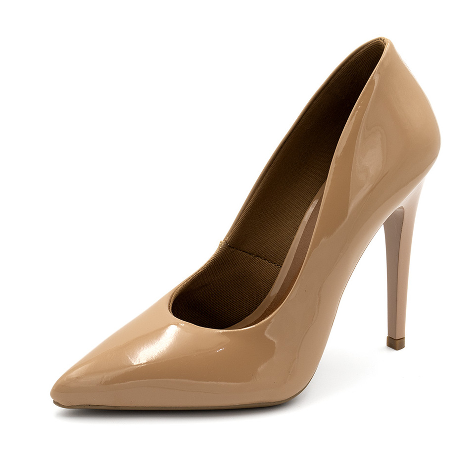 48c9e0609 Sapato Social Feminino Scarpins Nude salto alto fino - GiselaCosta