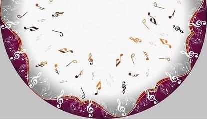 CORTE CIRCULAR CREPE MALHA NOTAS MUSICAIS PRA SAIA MIDI GODE