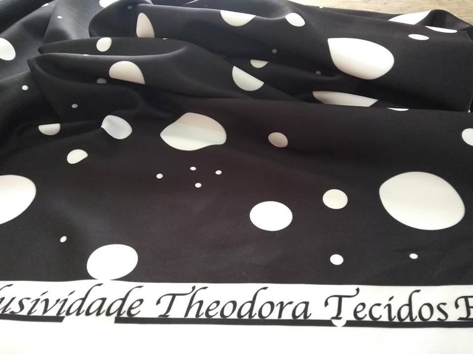 NEOPRENE PRETO MIX POLKA DOTS BRANCO (POA)