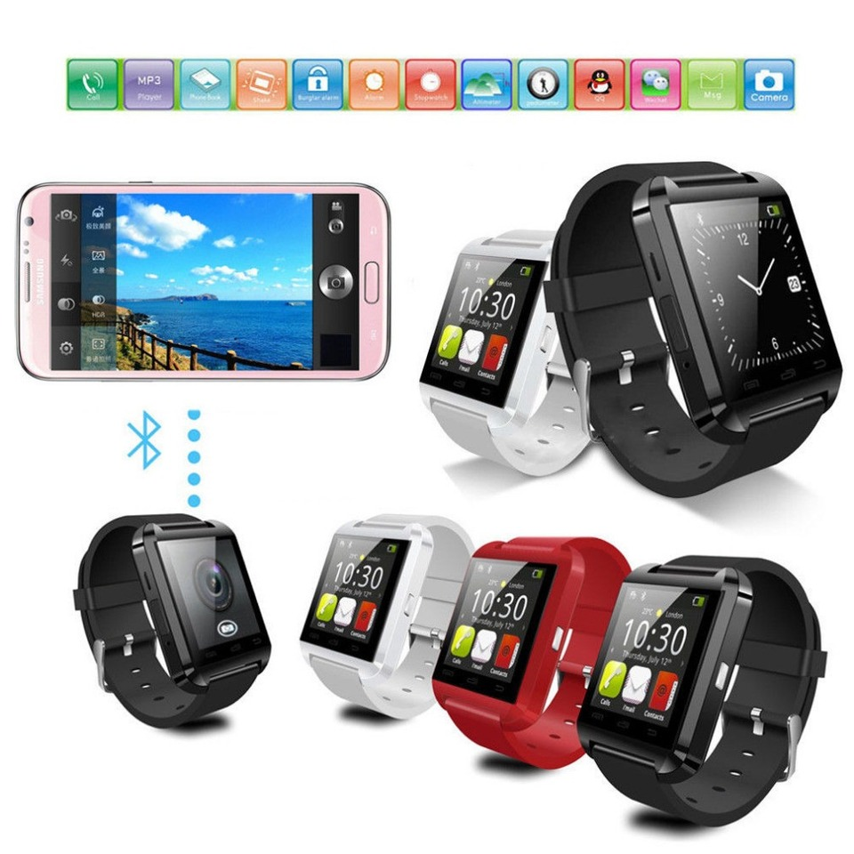08c8e55f359 Relogio Bluetooth SmartWatch U8 Android e IOS Iphone - Eletro Drones