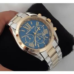 Relógio Michael Kors bicolor com marca data ce6595cdf0