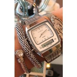 1cf8fe2bd57 Relógio Casio prata digital e analógico.