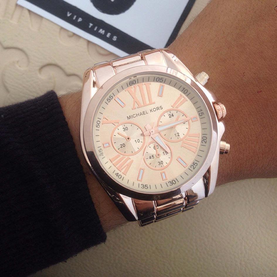 0a0c14e3a91 Relógio Michael Kors Rose números romanos - Vip Times