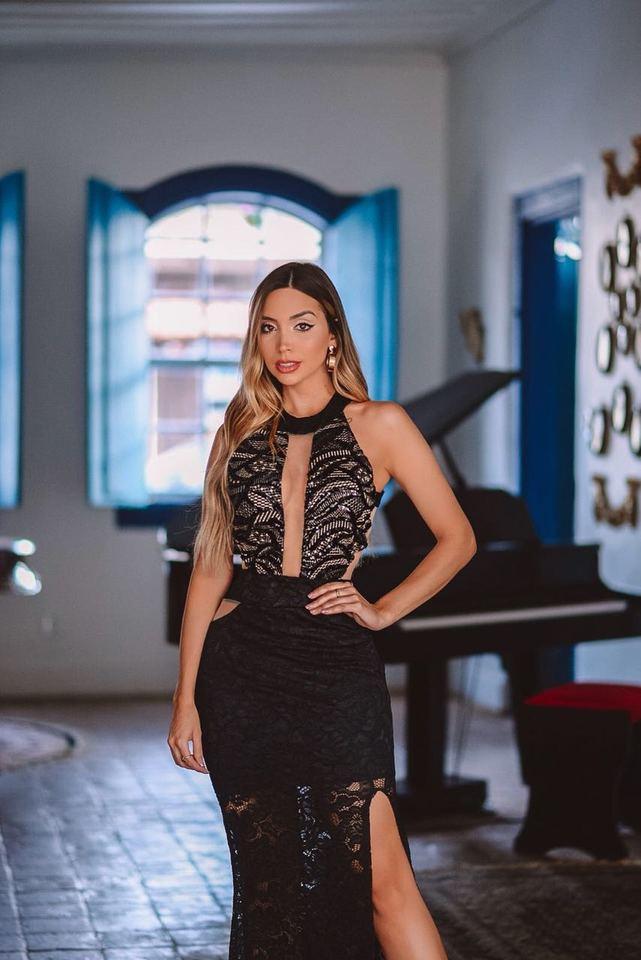 e4c6fdf672 Vestido Longo Cecilia Preto - Rosa Store