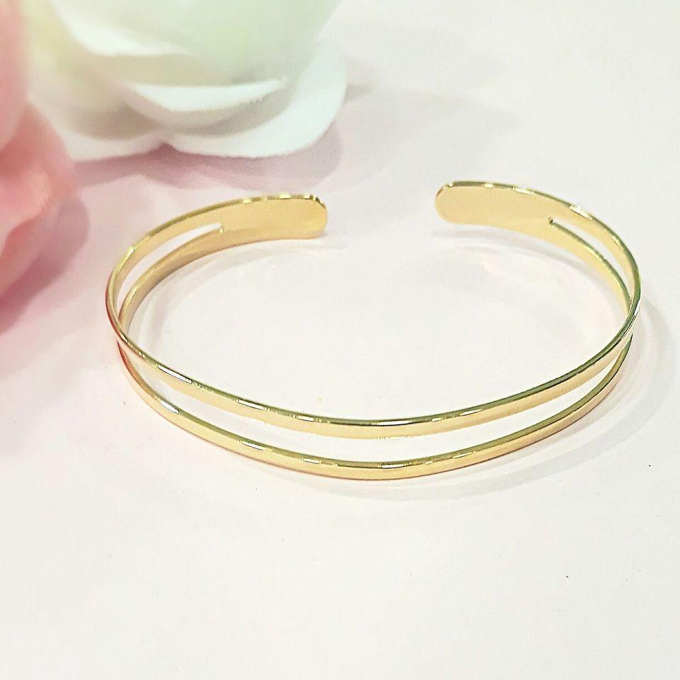 Bracelete folheado em ouro 18k