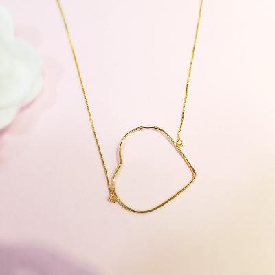 Colar Coração folheado em ouro 18k