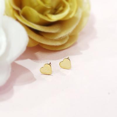 Brinco de Coração Folheado ouro 18k