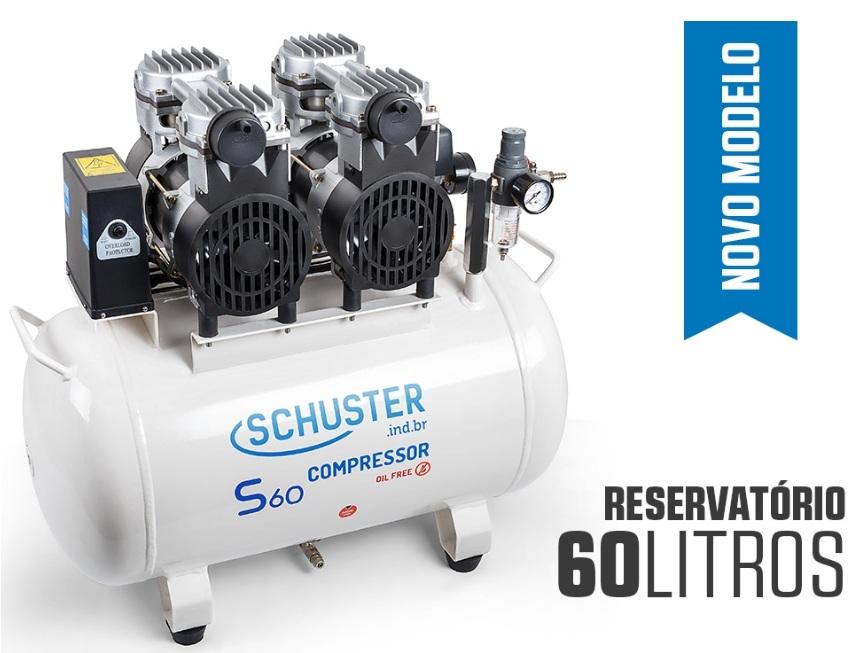 Compressor de Ar Isento de Óleo - S60 - SCHUSTER - MultiCoisa 3c5b5c846c