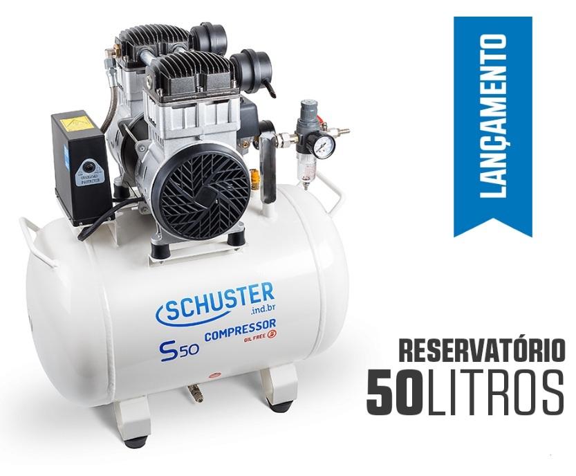 Compressor de Ar Isento de Óleo - S50 - SCHUSTER - MultiCoisa b220d291c8