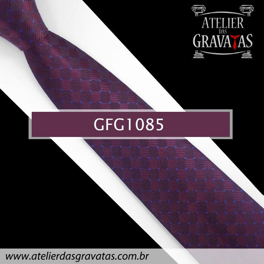 Gravata de Seda Especial Dot 8,5cm GFG1085 - acompanha lenço