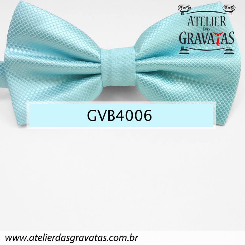 Gravata Borboleta Azul Tiffany - nó pronto GVB4008 - com ajuste de largura