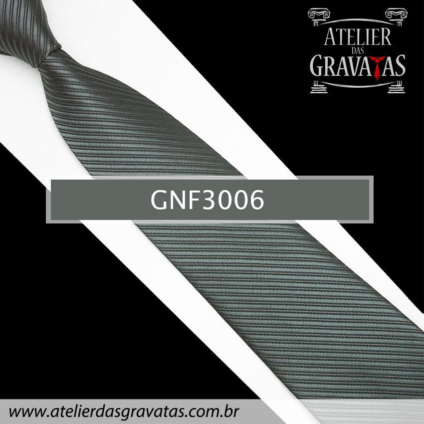 Gravata Slim Cinza Escura 8cm GNF3006