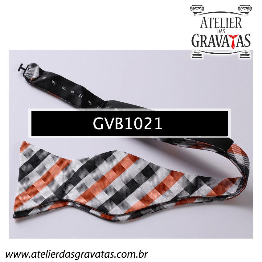 Gravata Borboleta de Seda Luxo GVB1021 - acompanha lenço