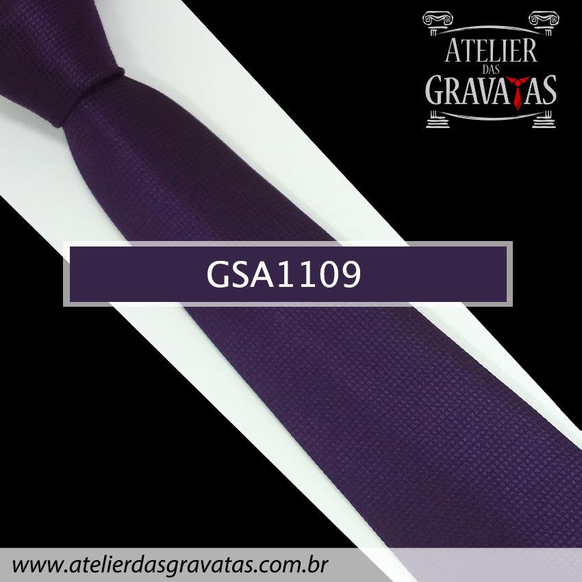 Gravata de Seda Roxa 10cm GSA1109