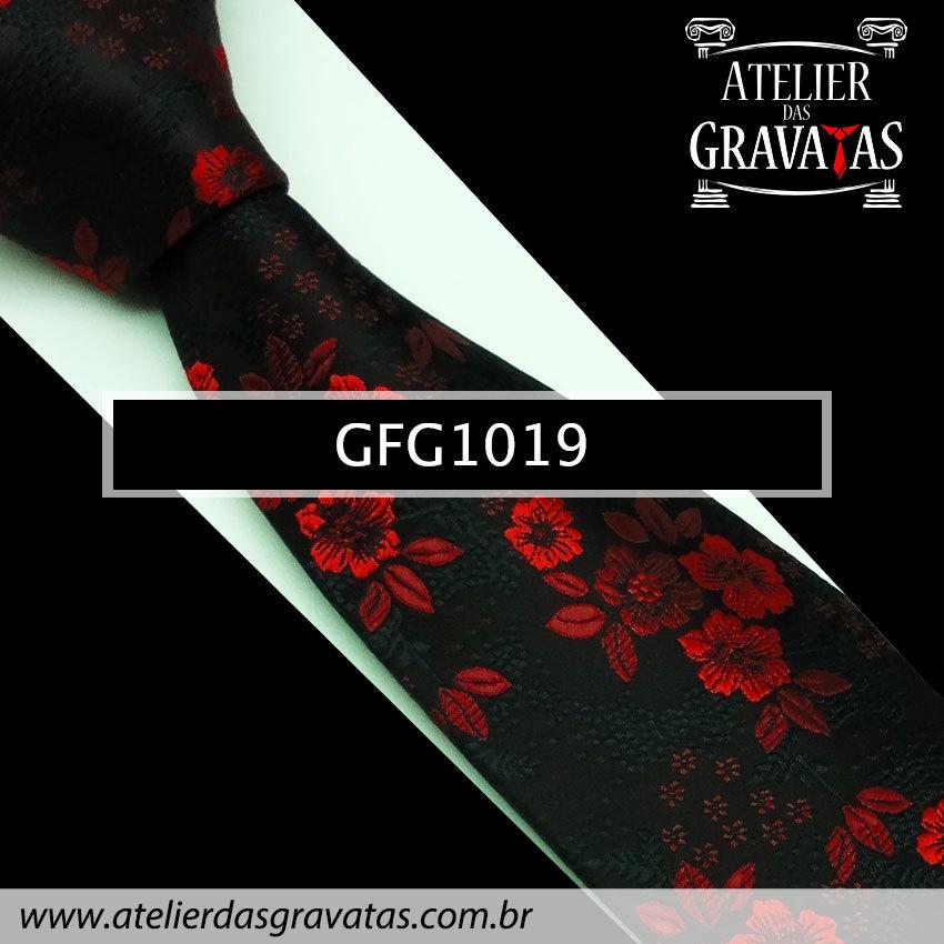 Gravata de Seda Especial Floral 9cm GFG1019