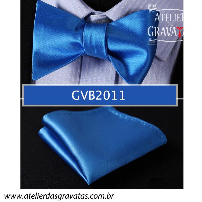 Gravata Borboleta Azul Royal de Seda Especial GVB2011