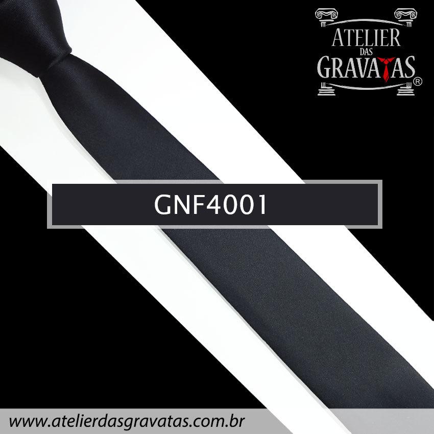 Gravata Slim Fit Preta de 5cm GNF4001