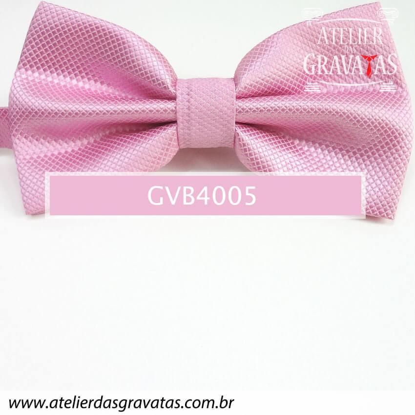 Gravata Borboleta Rosa - nó pronto GVB4005 - com ajuste de largura