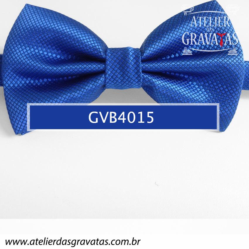 Gravata Borboleta Azul Royal - nó pronto GVB4015 - com ajuste de largura