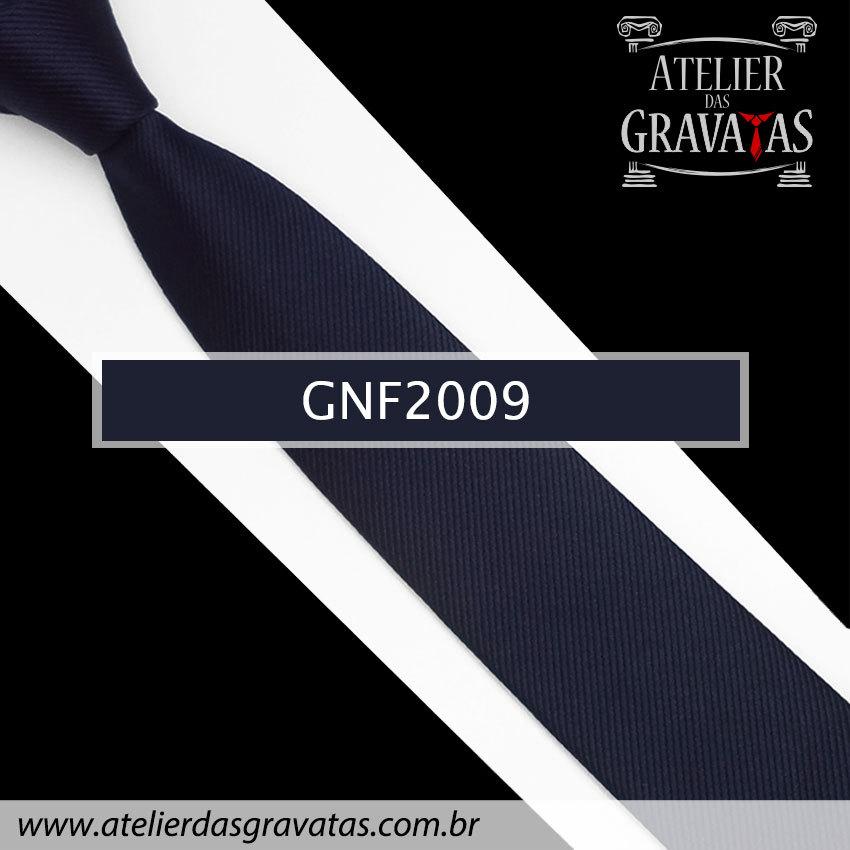 Gravata Slim Fit Azul Escura de Seda 6cm GNF2009