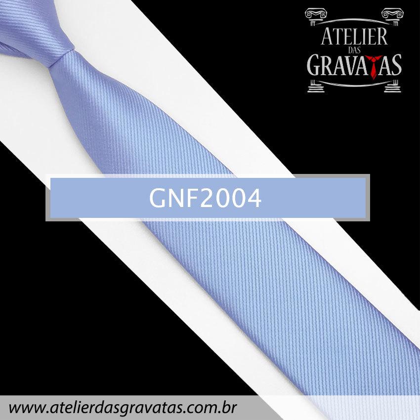 Gravata Slim Fit de Seda 6cm Azul GNF2004