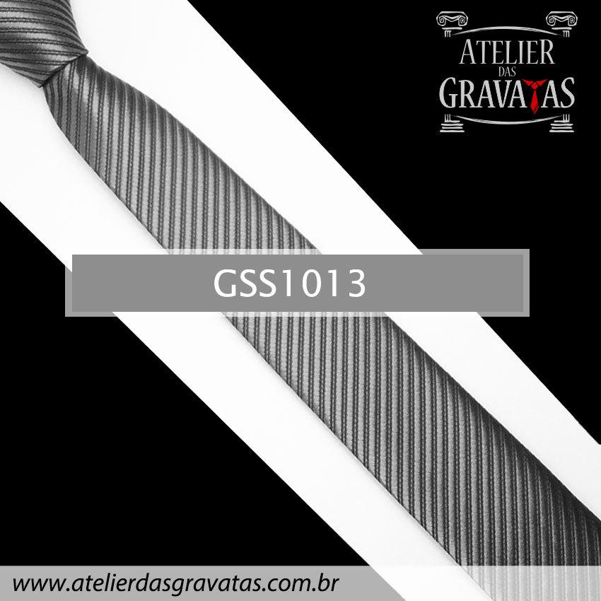 Gravata Slim Fit Cinza Escura 5cm GSS1013