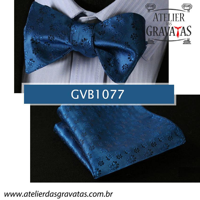 Gravata Borboleta de Seda Especial GVB1077 - acompanha lenço
