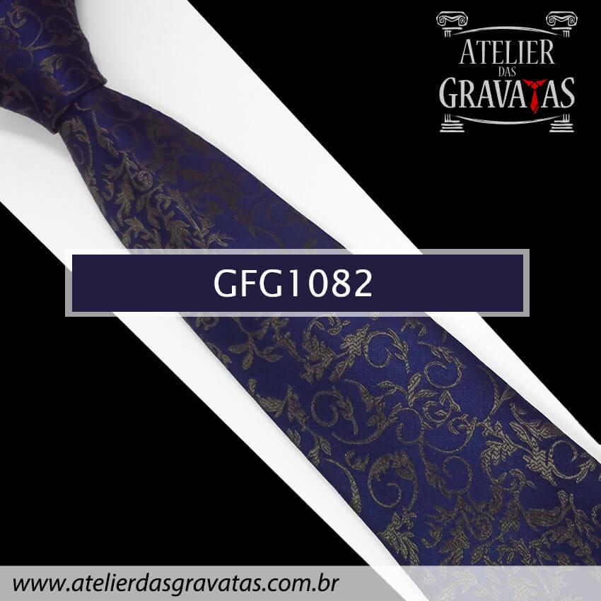 Gravata de Seda Especial 9cm GFG1082 - acompanha lenço