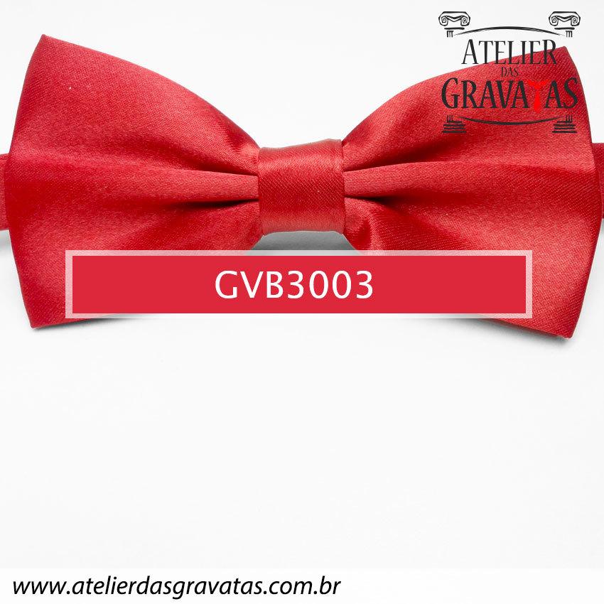 Gravata Borboleta Vermelha - nó pronto GVB3003 - com ajuste de largura