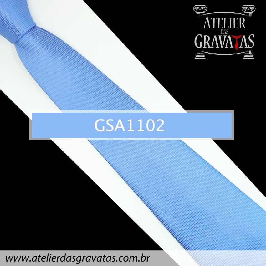 Gravata Azul de Seda 10cm GSA1102