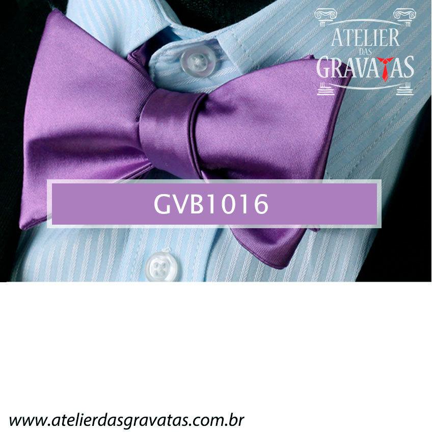 Gravata Borboleta Roxa de Seda Especial GVB1016