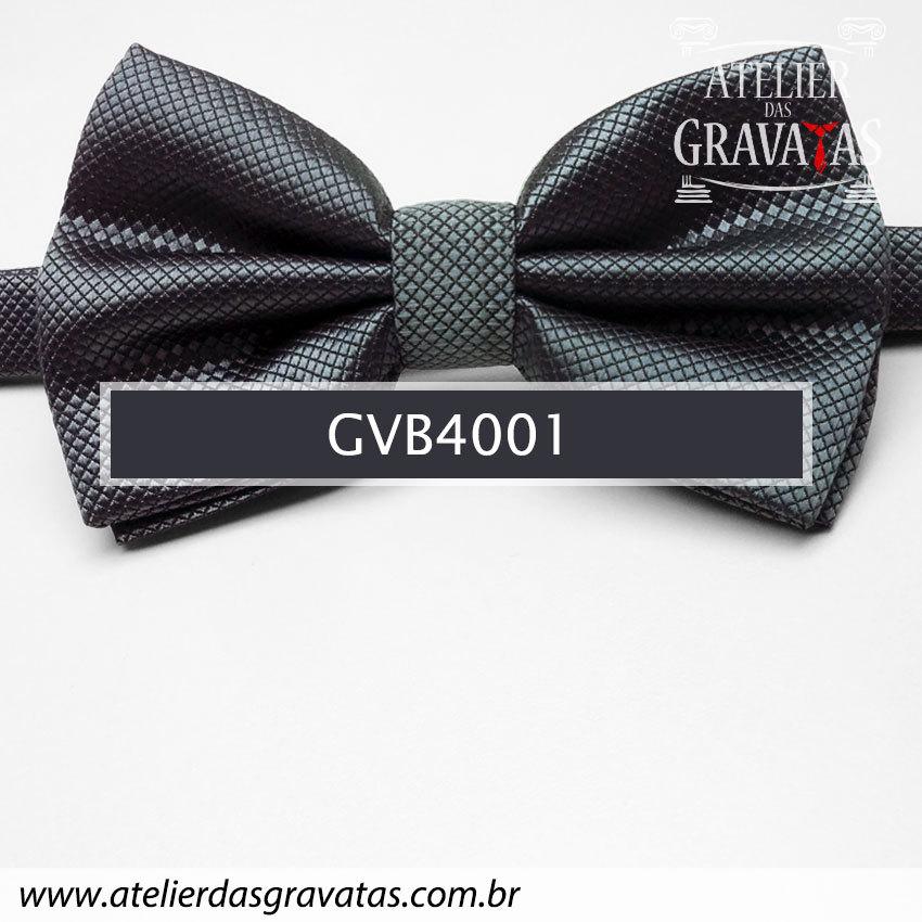 Gravata Borboleta Cinza Escuro - Nó pronto GVB4001 - com ajuste de largura