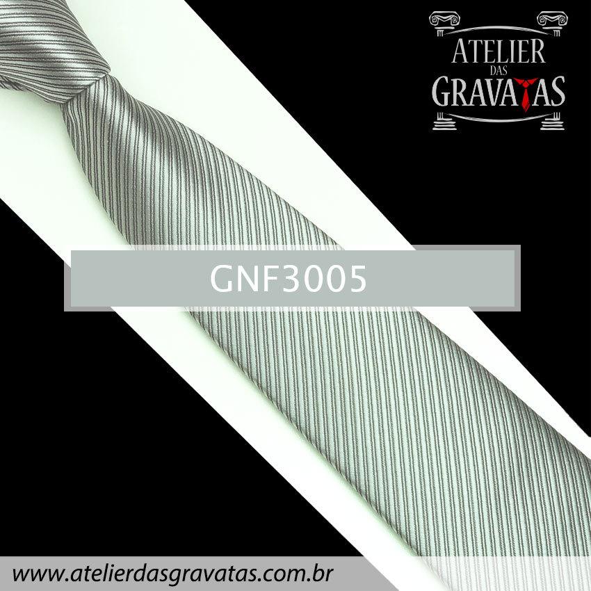 Gravata Prata 8cm GNF3005